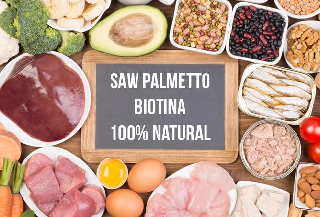vitaminas capilares naturales con biotina y saw palmetto
